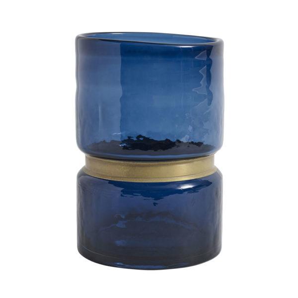 Vaso Ring Vetro Blue
