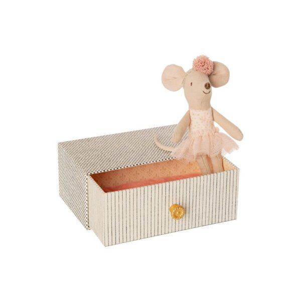 topina ballerina nella scatola old cottage maileg