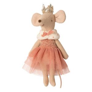 topina principessa con corona e mantello