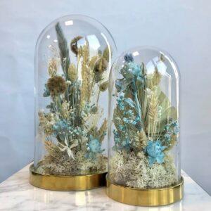 cloche fiorita azzurra