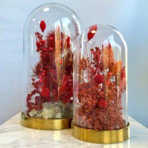 cloche fiorita rossa