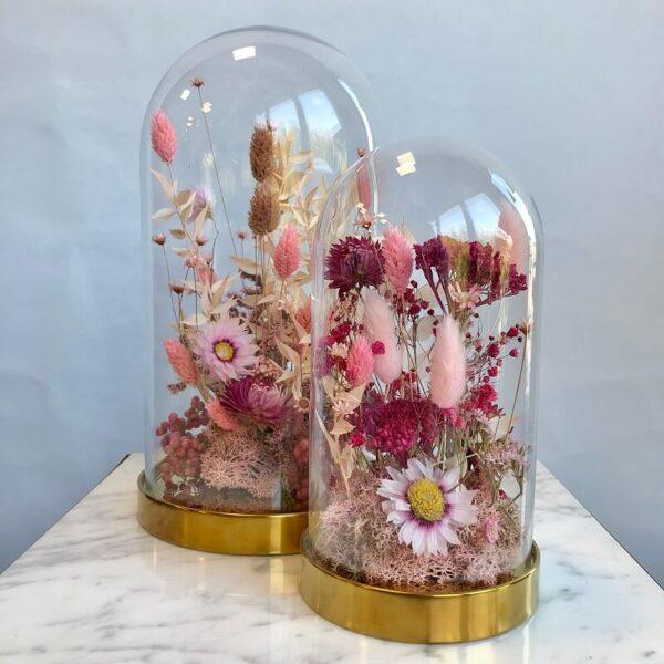 cloche fiorita toni del rosa