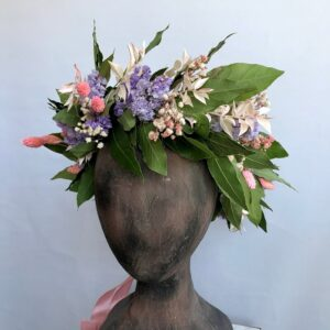 corona per laurea rosa e lilla