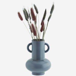 Vaso in gres azzurro polvere