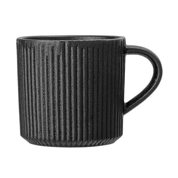 tazza nera in gres