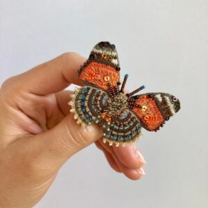 Spilla Claudina farfalla arancione