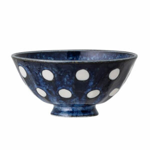 bowl camelia blu a pois bianchi