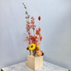 fiori al cubo - pesca e giallo